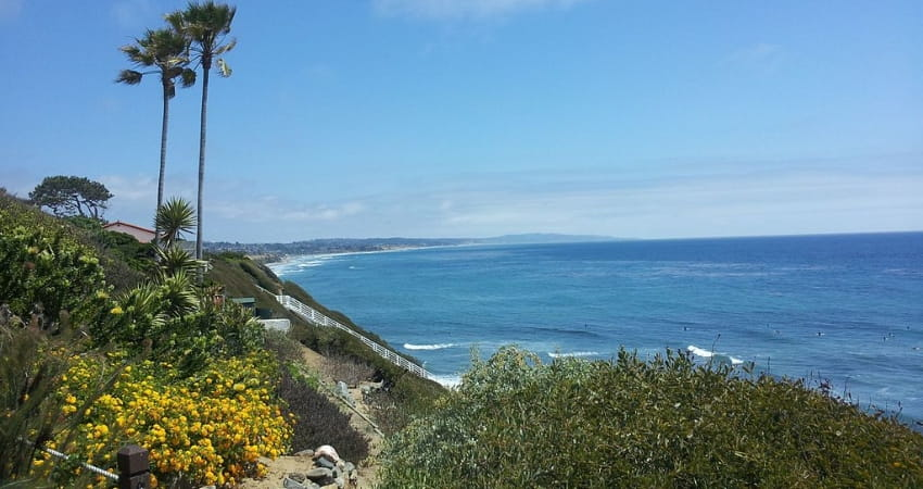 Oceanfront views from the Meditation Gardens in Encinitas