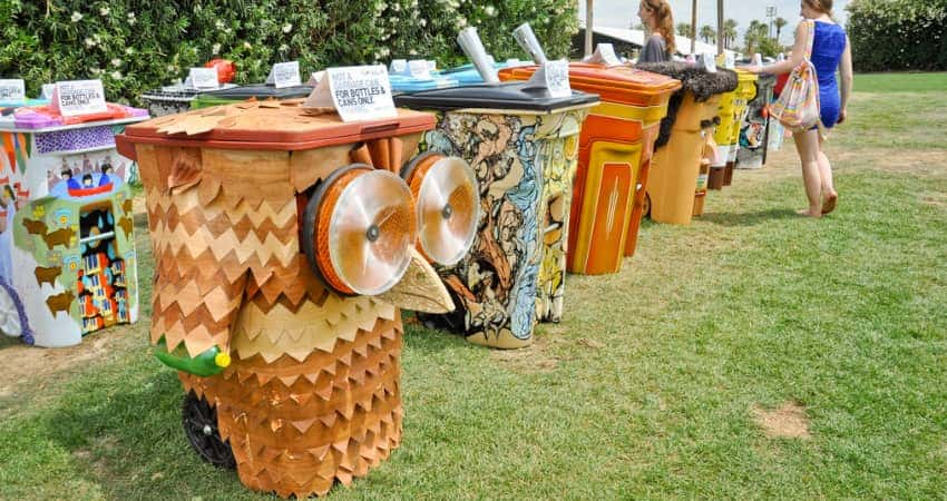 """""""TRASHed: Art of Recycling """"campaign installation at Coachella 2013"""