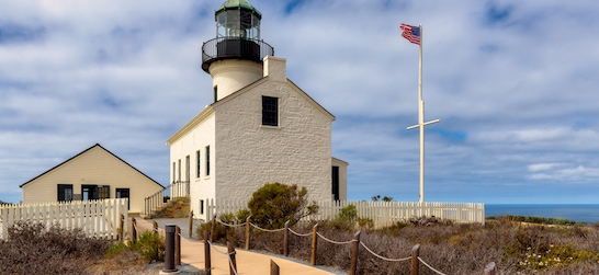 the Old Point Loma Lighthouse at Cabrillo National Monument in San Diego