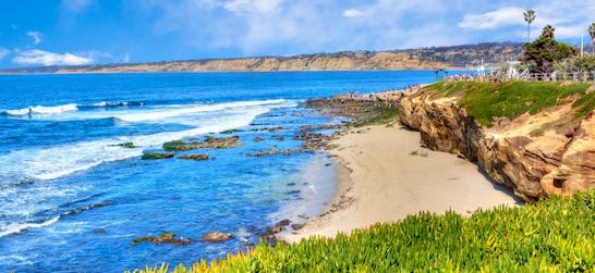 a beach at La Jolla Cove in San Diego